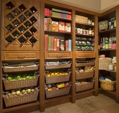 pantry; like the basket drawers