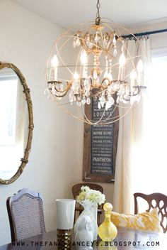 DIY Orb Chandelier Pinterest Orb Chandelier Chandeliers And Lights - Orb chandelier with crystals