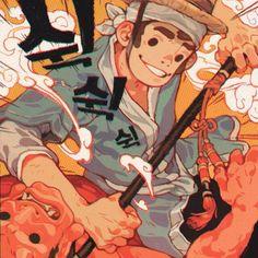 I got to do a Penguin Classics cover for Hong Gil Dong by Minsoo Kang, the Korean Robin Hood. Thanks to AD Matt Varga! #penguinclassics #honggildong #illustration #sachinteng
