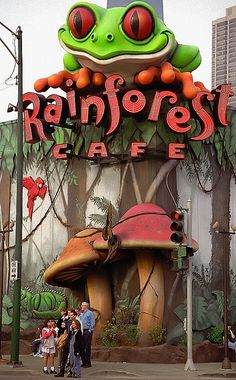 """Rainforest Cafe"" in Chicago, Illinois_ USA Chicago Travel, Chicago City, Chicago Illinois, Chicago Trip, Unique Restaurants, Chicago Restaurants, Used Restaurant Equipment, Restaurant Jobs, Lago Michigan"