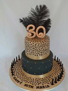 birthday cake by Creative Cakes by Alex Torta Animal Print, Animal Print Party, Animal Prints, Pretty Cakes, Beautiful Cakes, Amazing Cakes, Leopard Cake, Leopard Print Cakes, Jungle Cake