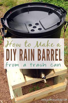 DIY Rain Barrel from a Trash Can