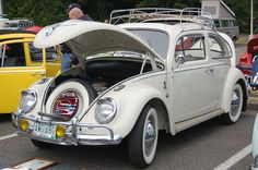 Volkswagen Bug painted stock Pearl White L87