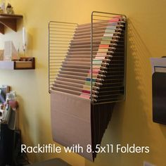 Rackitfile Wall Hanging File Folder System Scrapbook Paper Storage