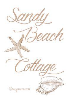 ~ Cottage Names, Dream Beach Houses, Pismo Beach, Beach Signs, Sandy Beaches, Coastal Living, Coastal Style, Beach Cottages, Beach House Decor