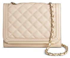 Mossimo Women's Quilted Flap Solid Crossbody Handbag