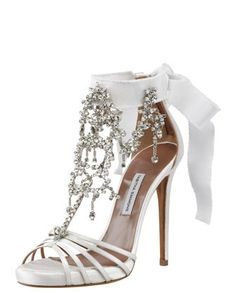 * Walking in Style * / Chandelier Crystal Sandal by Tabitha Simmons. |2013 Fashion High Heels|