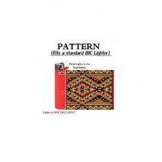 AUTUMN NAVAJO-Beaded Flat Peyote- Lighter Cover Pattern, Full Instruction Tutorial -lighter cover pattern-Bead Pattern Sale