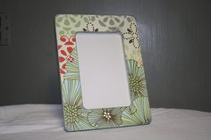4x6 flower picture frame by TipToeDesign on Etsy, $10.00