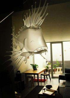 Giant Fish Lighting - Illuminated Art by Alex Earl (GALLERY)
