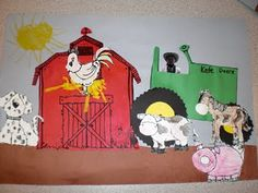 Cute farm art project