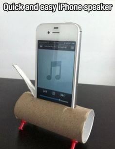 iphone speaker, super easy to make