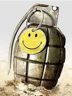 Battlefield Bad Company smiley grenade
