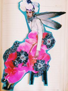 Deconstruction. Great mother Eva. Illustration by Daniel Velazquez.  Fashion Illustration. Arts. Mexican artist.