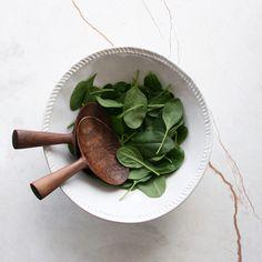 Short Walnut Salad Servers | Anne Hodgson