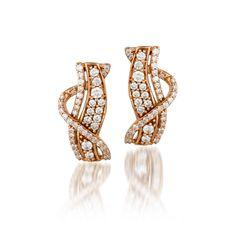 Le Vian® Strawberry Gold® Sinuous Swirls™ Strawberry 'N Vanilla™ earrings with Vanilla Diamonds® Ear Jewelry, Jewelry Shop, Jewelry Stores, Gemstone Jewelry, Jewelery, Le Vian, Diamond Bracelets, Jewelry Collection, Diamond Earrings