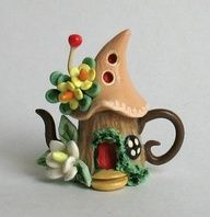 polymer clay teapot