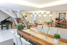 From John Lloyd's family home in Antipolo to Jennylyn's modern house in Quezon City, we look back at the most interesting spaces we've featured this year Inside Celebrity Homes, Celebrity Houses, Man Of The House, House 2, London Apartment, Storey Homes, Elle Decor, Exterior Design, Building A House