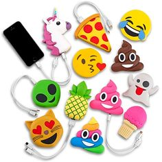 Emojicon Portable Phone Charger Power Banks http://amzn.to/2rwWBKS