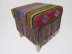 kilim stool eclectic decor kilim ottoman bohemian style kilim footstool bohemian room decor turkish furniture living room chair stool Z028 by DECOLICKILIMPILLOWS on Etsy https://www.etsy.com/listing/248365305/kilim-stool-eclectic-decor-kilim-ottoman