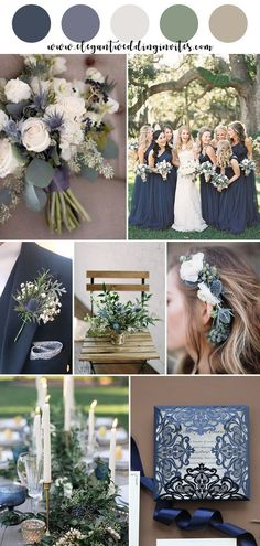 Blue Wedding Flowers navy, thistle blue and greenery garden wedding color ideas Tan Wedding, Perfect Wedding, Wedding Ceremony, Wedding Flowers, Dream Wedding, Wedding Orange, Spring Wedding, Navy Rustic Wedding, Wedding Arbors