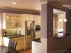 Green and White Kitchen, Pass Through Window - Designer Kitchens LA #22 (DesignerKitchensLA.com, Kitchen-Design-Ideas.org)