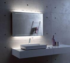 Der Z1 vereint minimalistisches Design und wahre Lichtpower.  #Z1 #designspiegel #lichtspiegel #mirror #lichtpower #betonoptik #minimalistisch #filigran #zierath