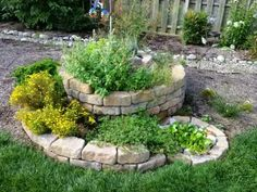 Easy Herb Spiral Garden Design Ideas for Small Yard Inspiration Permaculture Design, Permaculture Garden, Herb Spiral, Spiral Garden, Raised Bed Garden Design, Herb Garden Design, Garden Web, Raised Herb Garden, Amazing Gardens