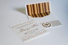 Convite de bodas de ouro Lucia & Heitor (50 years aniversary invitation)