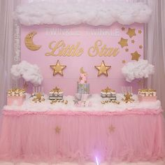 70 Ideas Baby Shower Party Themes Twinkle Twinkle Little Star For 2019 Baby Shower Themes Neutral, Baby Girl Shower Themes, Gender Neutral, Girl Themes, Cloud Baby Shower Theme, Star Wars Party, 1st Birthday Girls, First Birthday Parties, Birthday Ideas