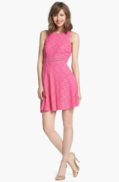 Laundry by Shelli Segal Lace Fit & Flare Dress (Petite) available at #Nordstrom