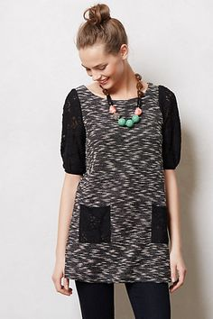 So cute for fall. Staccato Lace Tunic #anthropologie #anthrofav