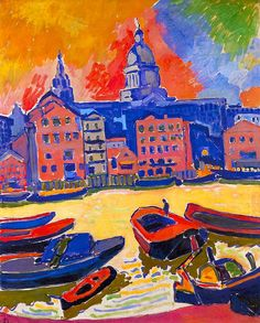 Andre Derain - London, St. Paul's Cathedral as seen from The Thames, 1906