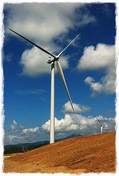 Punta Lima Wind Park, Naguabo, Puerto Rico. Featuring 13x 1.8MW V100 Vestas Wind turbines, proudly built in Brighton, Colorado.