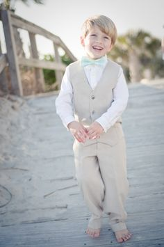 Custom Boys Ring Bearer Outfit--Vest and Pants--Portraits, Church--Available in a Variety of Colors---Size 12mth-4T---Perfect for Weddings
