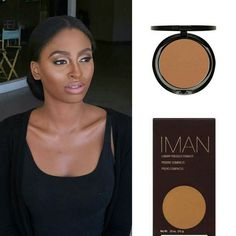 Makeup by @muabri  using @imancosmetics Luxury Pressed Powder in #teeka4