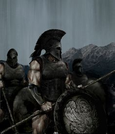 """Ancient Greek hoplite, Spartan, 6-5th BC *WRONG PICTURE by Niko978 on Flickr. """