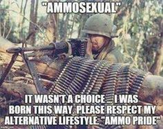 This is really bloody frustrating. This is making fun of people who have a minority sexuality and it's just wrong, mate. Military Jokes, Military Life, Gun Humor, Funny Memes, Hilarious, American Soldiers, Twisted Humor, Adult Humor, I Laughed