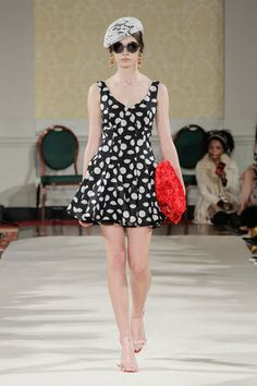 Andrea Dress - A/W14 Collection #LFW #chic #womenswear #pattern #Black #White #SummerDress