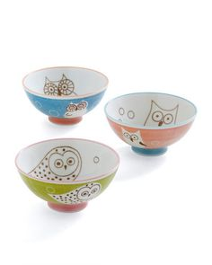 owl bowl set