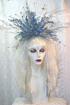 Fairy Headpiece | Winter Star Fairy Full Wig, Headpiece, Goth, Gothic, Costume, Faerie ...
