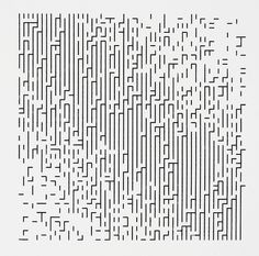Frieder Nake, Walk-through-Raster, series See digital hindsight. Frieder Nake, Walk-through-Raster, series C-type by marilyn Robert Rauschenberg, Abstract Pattern, Pattern Art, Pixel Art, Design Art, Graphic Design, Paul Klee, Computer Art, Generative Art