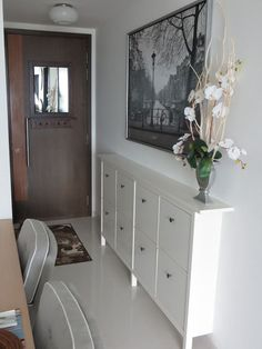 Narrow Hallway Cabinet Furniture Large Size Picture Of A An Open Floor Plan House Ikea Hemnes Shoe Cabinet, Cabinet Furniture, Slim Shoe Cabinet, Home Interior, Interior Design, Entryway Shoe Storage, Front Door Shoe Storage, Ikea Entryway, Narrow Entryway