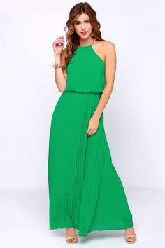 Without Further Ado Green Maxi Dress at Lulus.com! $52 Small