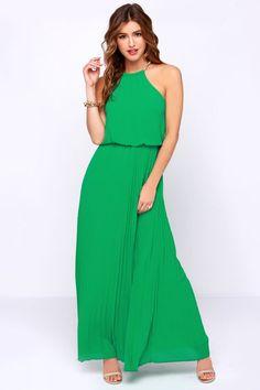 Without Further Ado Green Maxi Dress at Lulus.com!