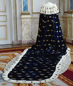 Cape as worn by Queen Josefina's coronation 28 September 1844.  LSH museum