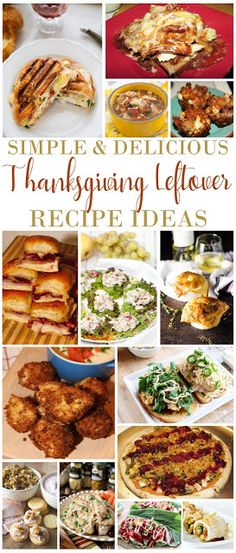 Here are Simple and Delicious Thanksgiving Leftover Recipe Ideas for you to use this food filled week {and all year for that matter}. Enjoy these delicious creations and Happy Thanksgiving! Casserole Recipes, Soup Recipes, Vegetarian Recipes, Dinner Recipes, Healthy Recipes, Recipies, Potato Recipes, Pasta Recipes, Delicious Recipes