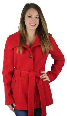 Jessica Simpson Women's Wool Winter Peacoat Coat