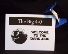 40th birthday star wars   Funny Star Wars 40th Birthday Card with a Paper Tie Fighter ...
