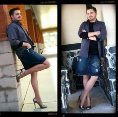 Get this look: http://lb.nu/look/7818176 More looks by Christopher James: http://lb.nu/legstyle Items in this look: Inc International Concepts Silver Pumps, George Suntan Tights, Levi's Jean Skirt, Grey Dress Shirt, Black Tshirt #trynewthings #highheels #highheelshoes #meninheels #hisheels #heels #mensclothing #mensfashion #ootd